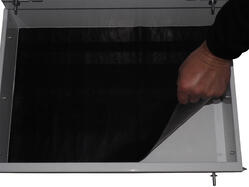 Rubber mat in draw