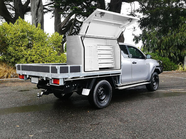 Ute with toolbox