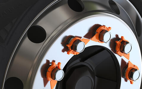 Orange 4095 HexChex Half Wheel